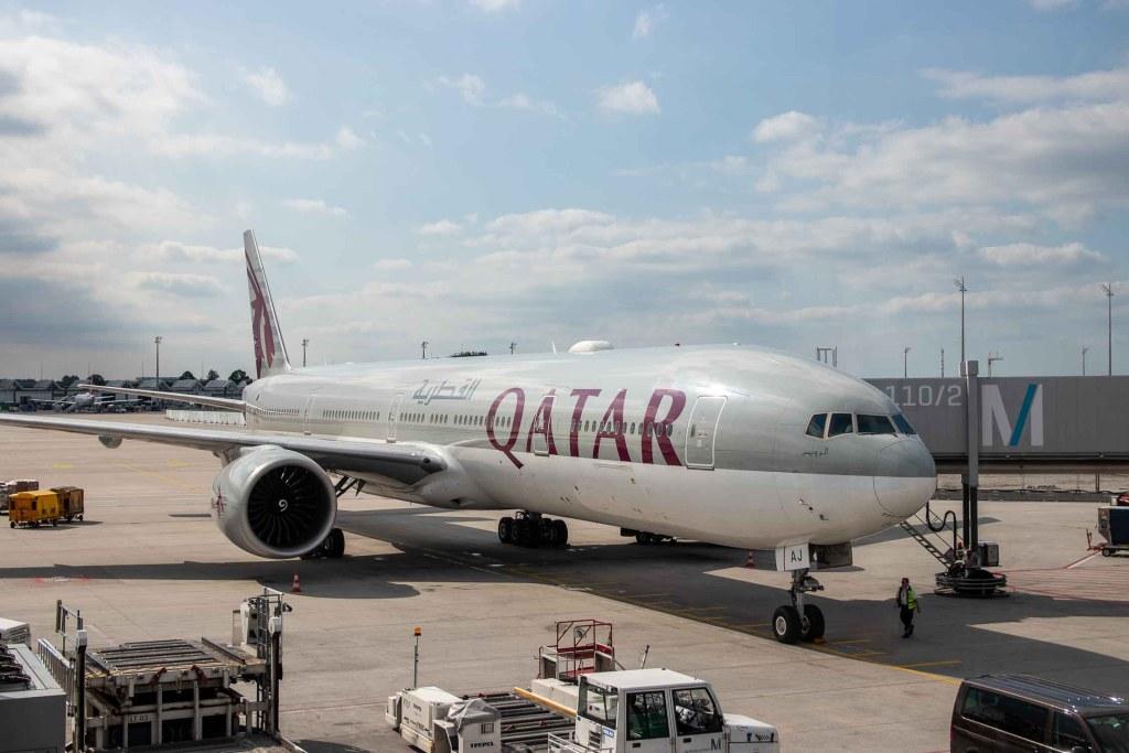 Qatar Airways A7-BAH Boeing 777 Terminal 1 Flughafen München