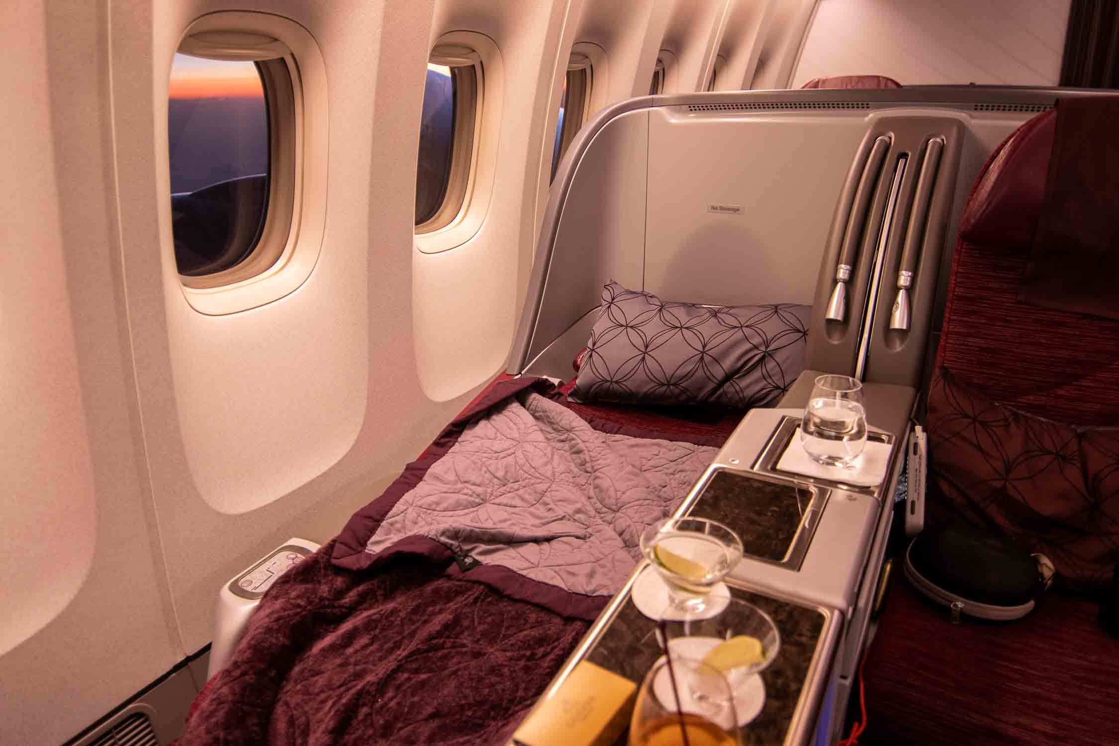 Qatar Airways Business Class Sitz Schlafen The Travel Happiness