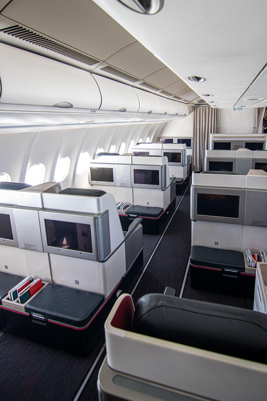 Turkish Airlines A330 Business Class SItz und Kabine-5