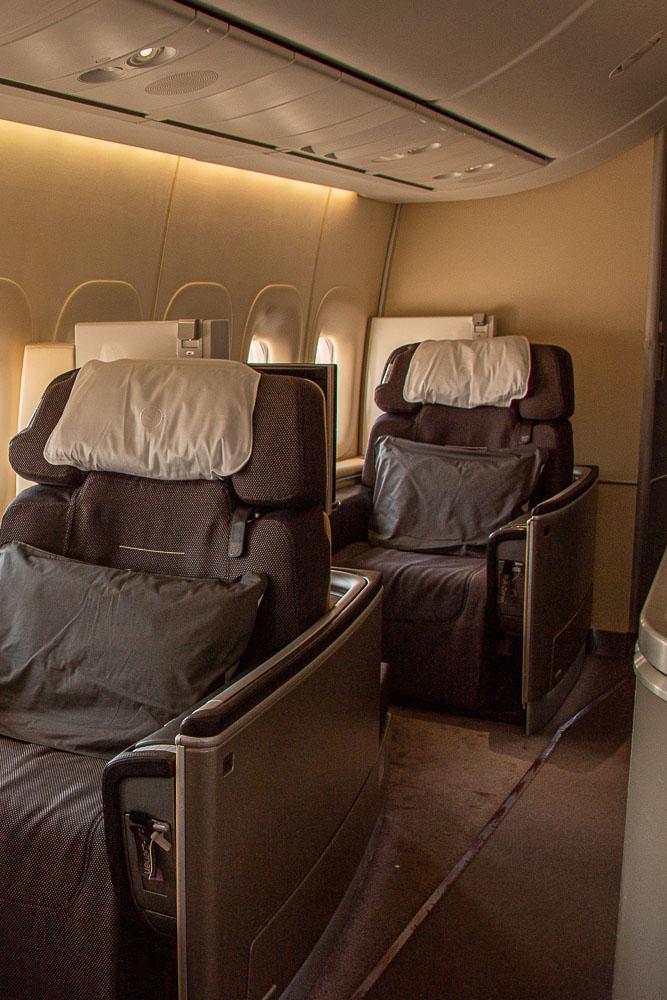Boeing 747 nach Mallorca First Class