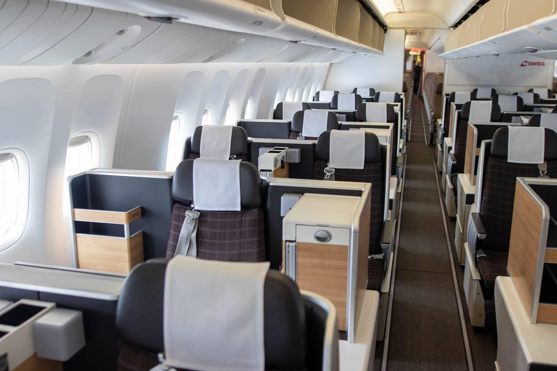 Swiss Boeing 777 Business Class Sitz