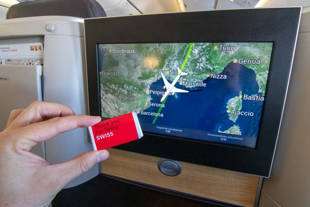 Swiss Boeing 777 Business Class nach Palma-5