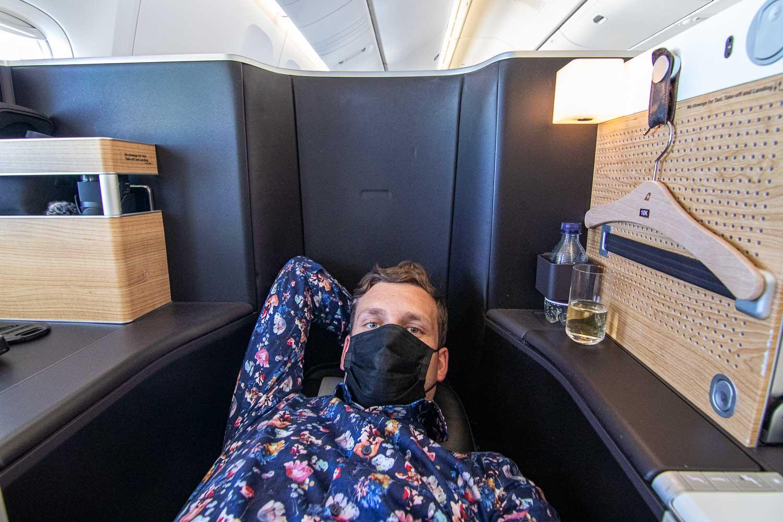 Swiss Boeing 777 Business Class nach Palma-7