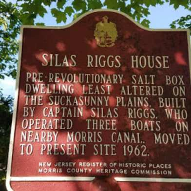 Riggs House, Ledgewood, sign