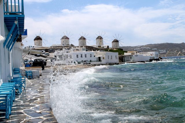 Little Venice in Mykonos town!