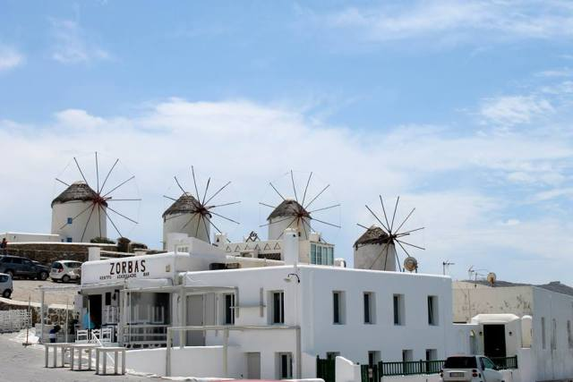 Wind Mills in Mykonos town!