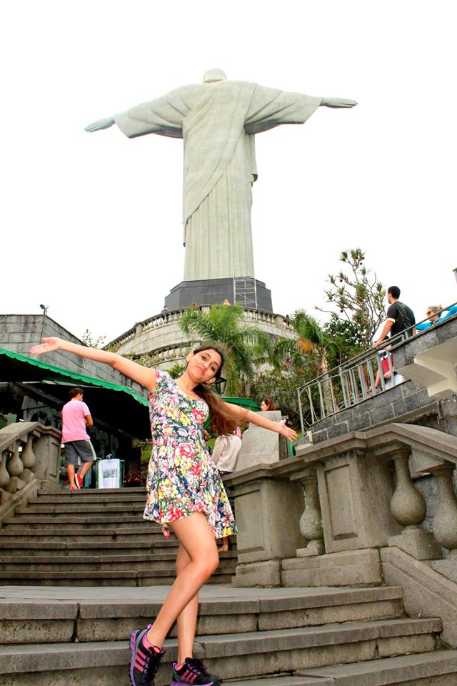 Dipti on our way up to the Christ statue