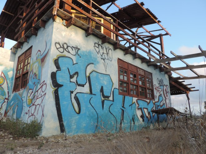 Abandoned vacation home on the North side fishing village of Playa Canoa