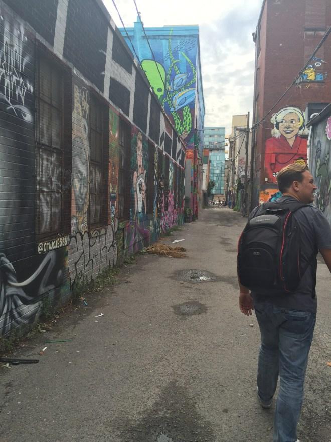 Take a stroll in Graffiti Alley