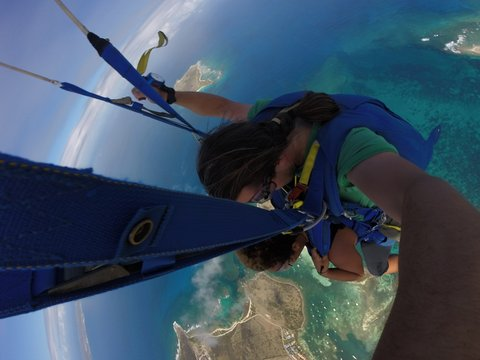 Dangling above SXM