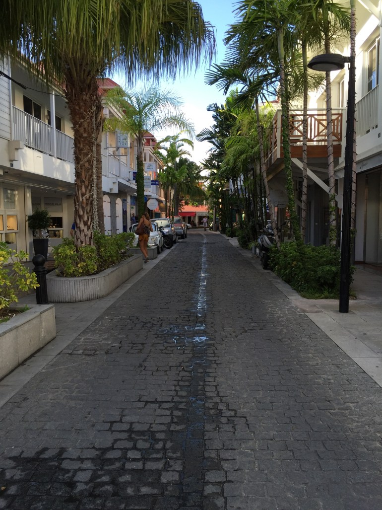 Shopping street in Gustavia