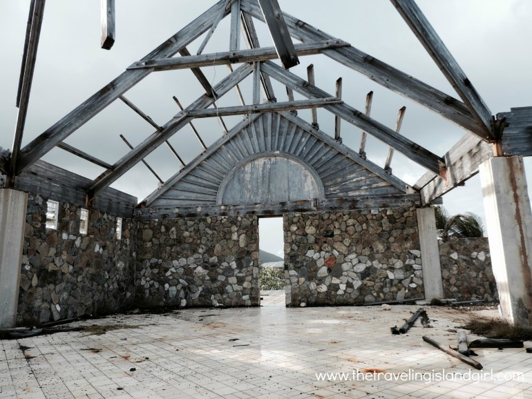 Ruins of a Oyster Pons hotel lobby