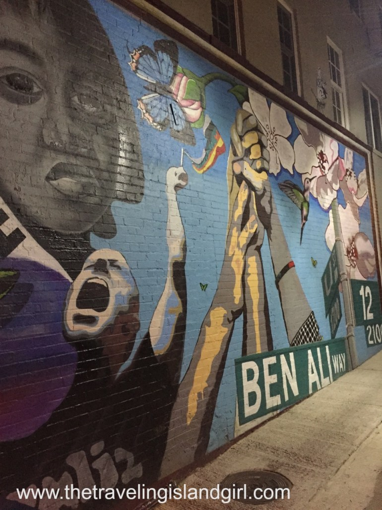 DC - little girl mural -