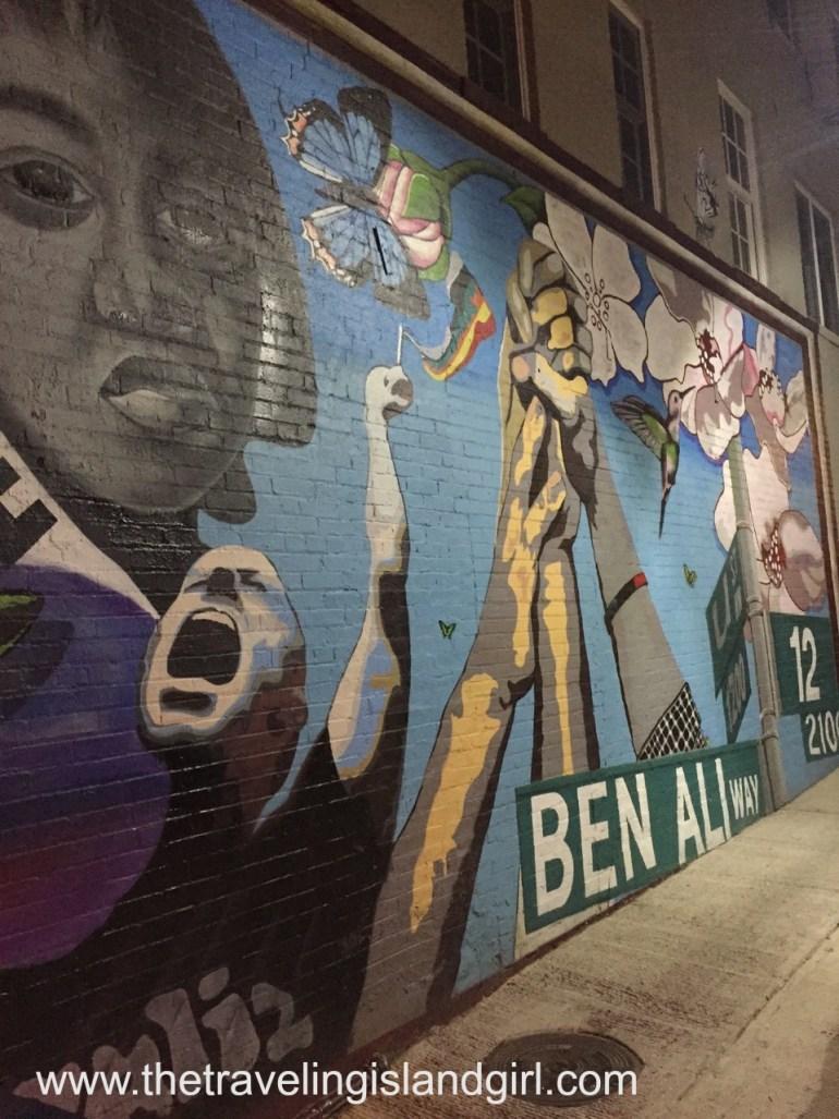 DC - little girl mural -