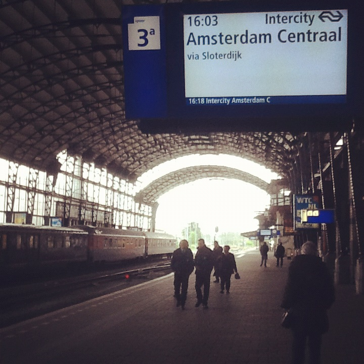 Waiting for the train at Haarlem station
