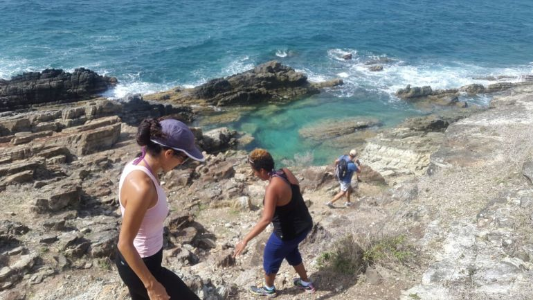 Hiking to the Natural Pool