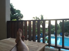 Enjoying the sunset at Fountain Resort Anguilla
