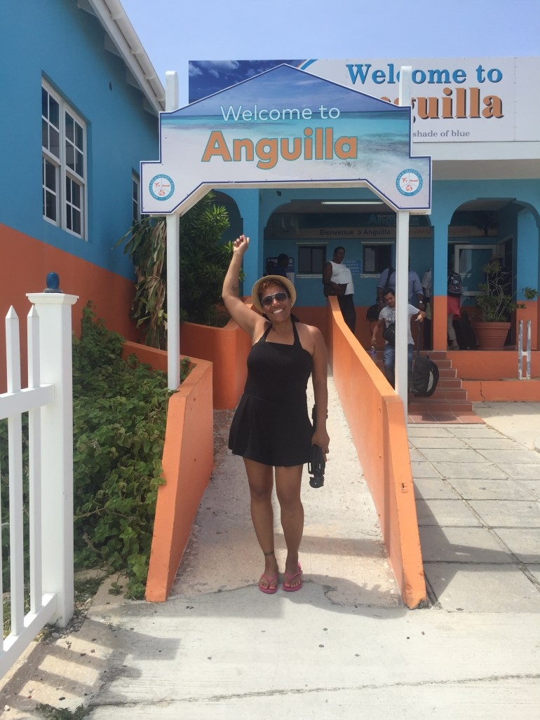 Arrival at Anguilla
