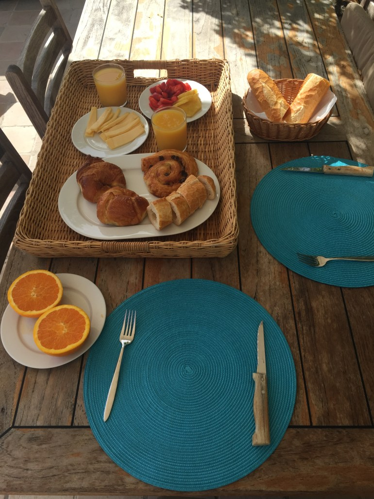 French breakfast in St Barth