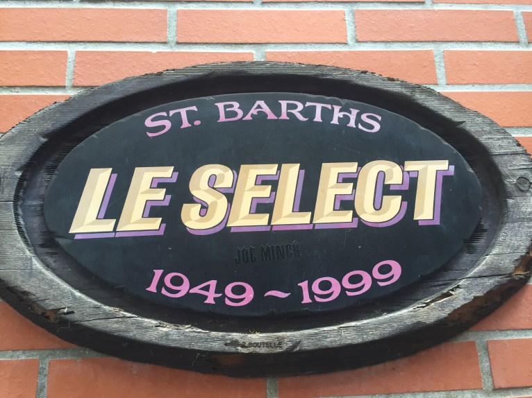 Le Select, one of the first restaurants on St. Barth