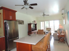Kitchen and living room at Fountain Resort