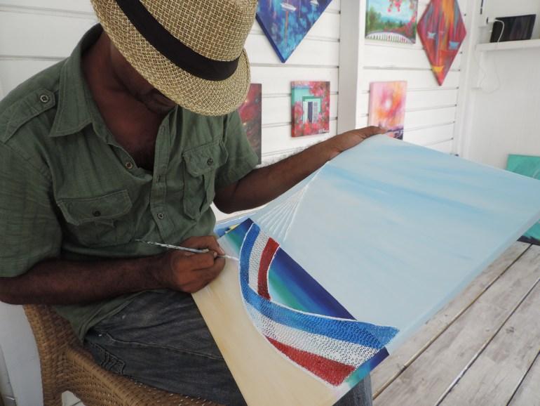 Local artist at work