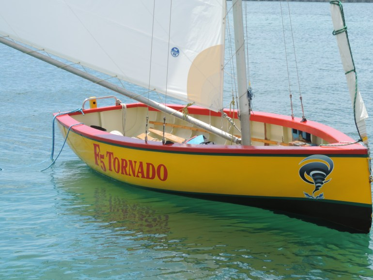 Sailboat ready for a holiday sail in Marigot