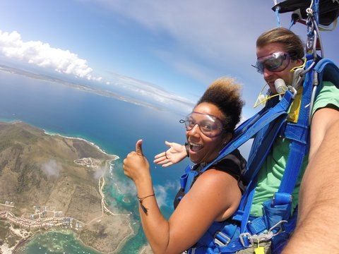 Skydiving in St. Martin