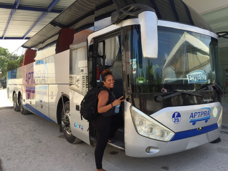 Taking the bus from Punta Cana to Santo Domingo
