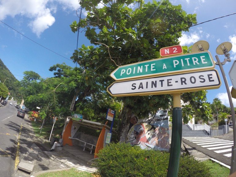 Road signs in Guadeloupe