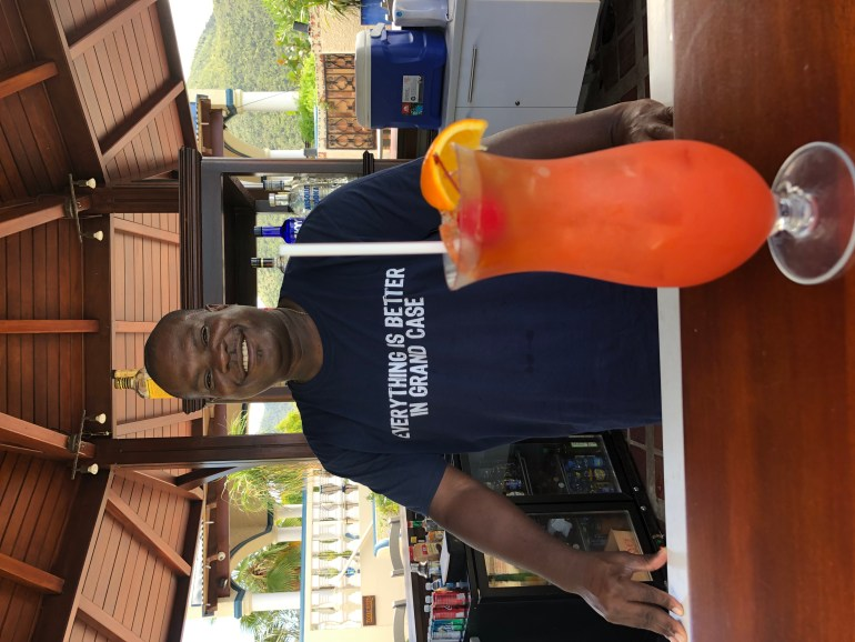 Local rum punch on St. Martin