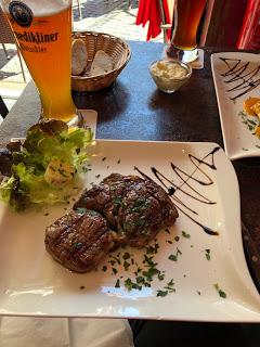 Argentinian steak in downtown Wiesbaden…