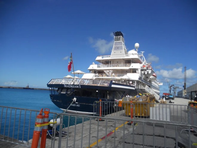 Docked in Barbados in November 2011.