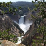 Visiting Artist Point, Yellowstone National Park