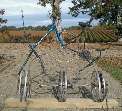 nelson bicycle sculpture
