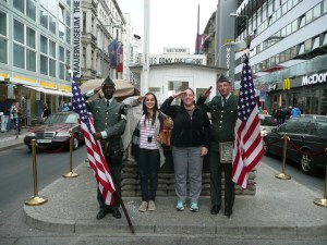 Visiting Checkpoint Charlie was a highlight for us, and for Teddy Bear - Berlin, Germany