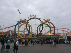 One of the crazy roller coasters at Oktoberfest