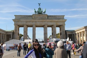 Me with the wonderful Brandenburg Gate
