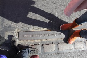 Standing on the Berlin Wall