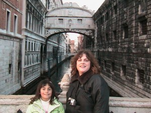 A rare picture of baby Marisa and Mom circa 2005 - Venice, Italy