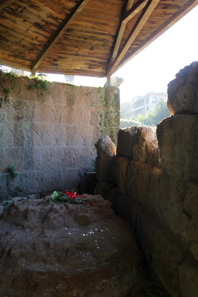 The location where Julius Caesar was cremated - Rome, Italy