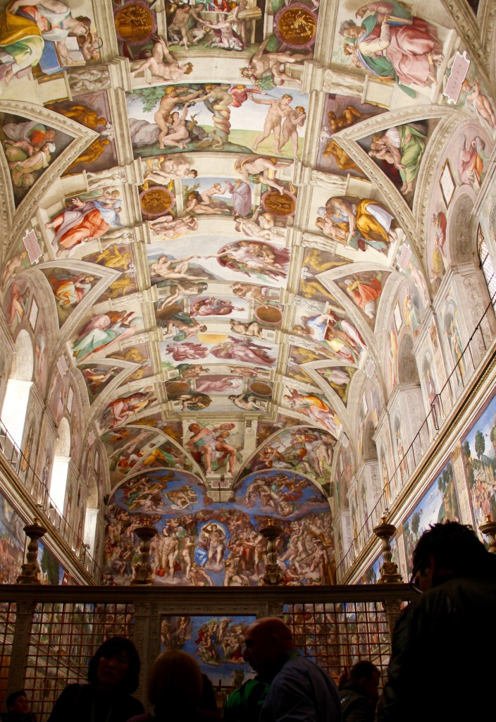 I was not supposed to photograph the inside of the Sistine Chapel but here we are - Vatican City, Rome, Italy