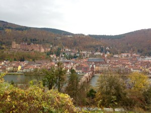 Looking down on the old city from Philosopher's Way - Heidelberg, Germany