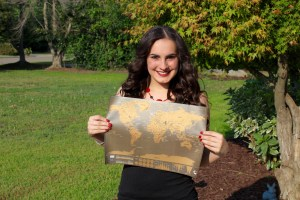 Me and my very own scratch-off travel map!