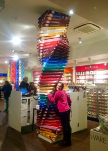 A tower of Rittersport Chocolate is all I need in my life - Berlin, Germany