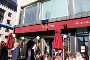 The outside of Einstein Cafe - Berlin, Germany