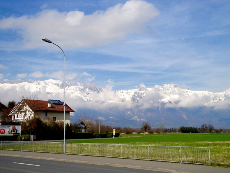 The main bus route into Liechtenstein gives the rider beautiful views of the Swiss and Austrian Alps