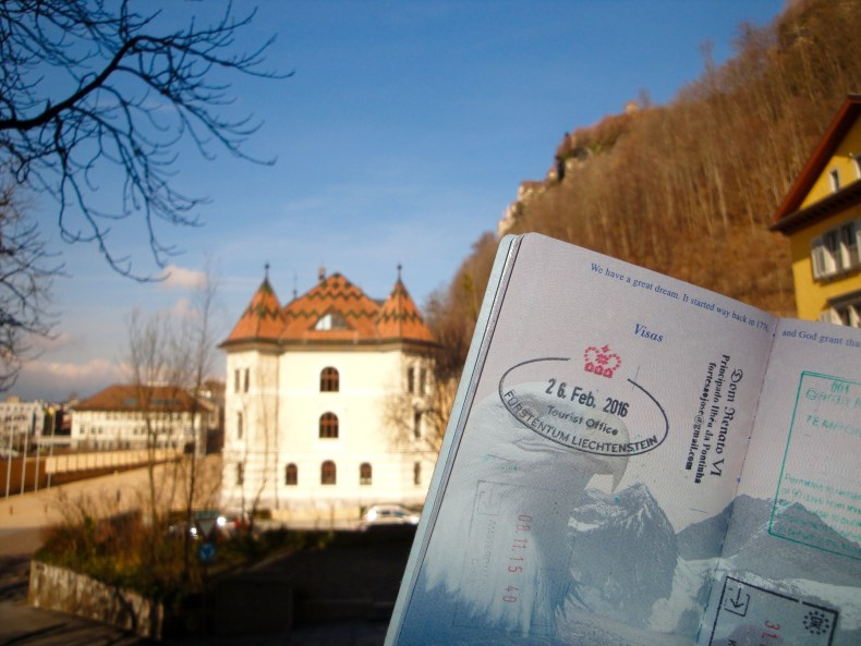 For only 3 Euros you can have your passport stamped with Liechtenstein's official passport stamp at the Tourist Center - Vaduz, Liechtenstein