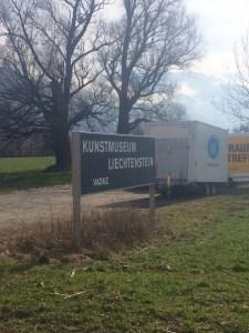 The sign located at the entrance to Liechtenstein, just over the border - Vaduz, Liechtenstein