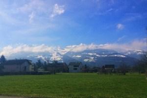 The Swiss Alps on the west side of Liechtenstein are stunningly beautiful at all times of the year - Vaduz, Liechtenstein